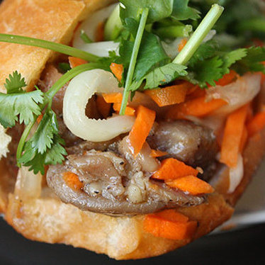 Chicken bánh mì at Kim Saigon Sandwiches
