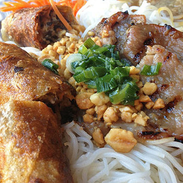 Imperial rolls & BBQ pork vermicelli at PPQ Dungeness Island