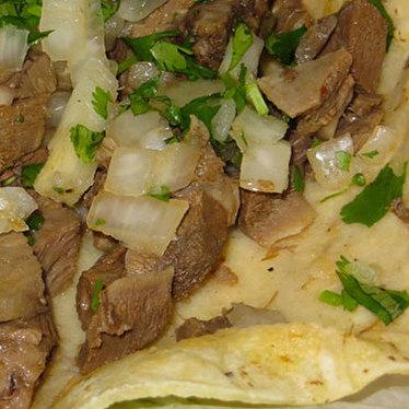 Tongue tacos at Birrieria Reyes de Ocotlan