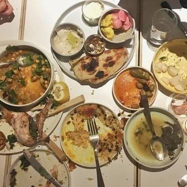 Assorted plates at Kismet