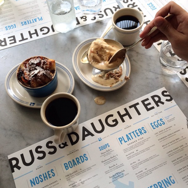 Halvah ice cream at Russ & Daughters Café