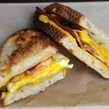 Farmer's Breakfast sandwich at The American Grilled Cheese Kitchen