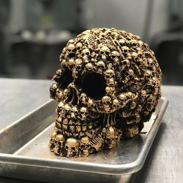 Chocolate skull at Buttercream Bakeshop
