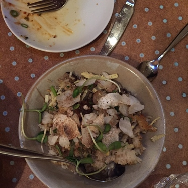 Porcini & Ramp Fried Rice a la plancha at State Bird Provisions