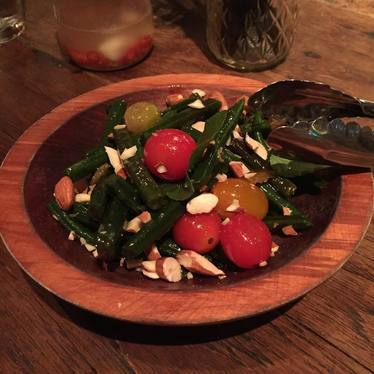 Smoked tomato salad at Mud Hen Water