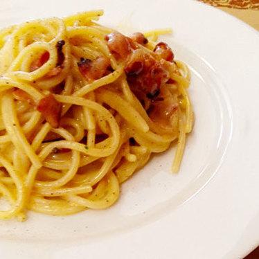 Spaghetti Mancini alla carbonara at Angelini Osteria