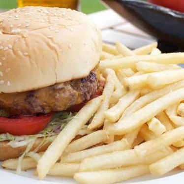 Drugstore style hamburger at The Lodge at Torrey Pines