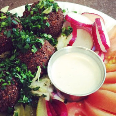 Falafel at Micho'z Fresh Lebanese Grill