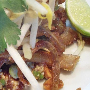 Pad Thai pig ears at Euclid Hall Bar & Kitchen
