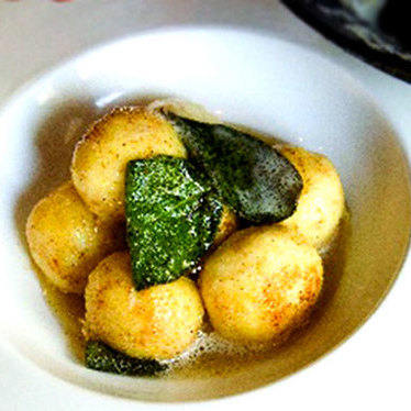 Ricotta gnudi at Cucina Enoteca