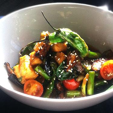 Sautéed calamari at Sushi Sasa