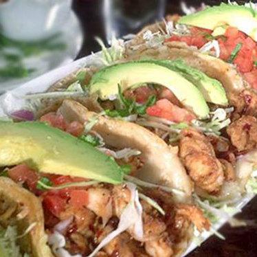 Spicy shrimp taco at Oscar's Mexican Seafood