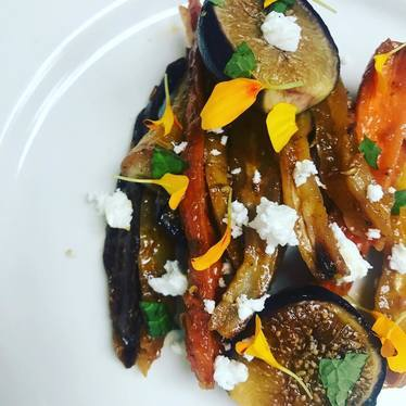 Carrots, figs, and feta  at Butter
