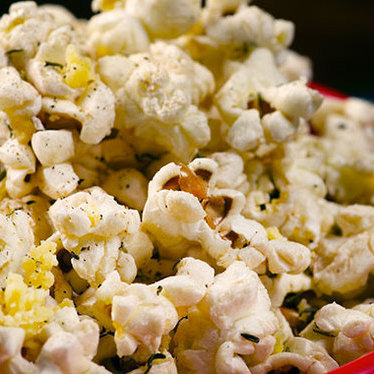 Popcorn with olive oil, black pepper and parmesan at Secret Society