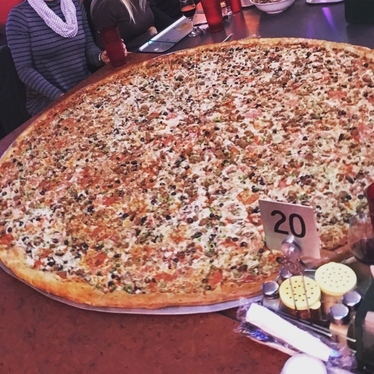 4 foot pizza at Big Lou's Pizza