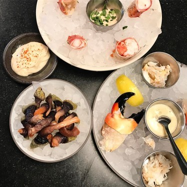 King crab, Fla stone crab & percebes at Little Donkey