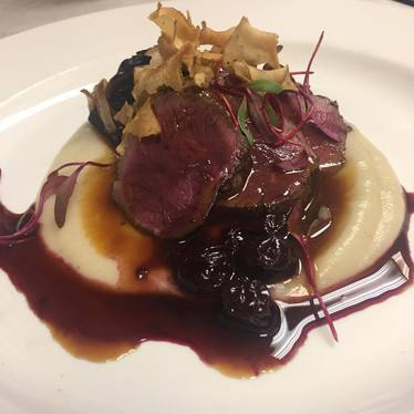 Seared venison at Mussel Bar & Grille