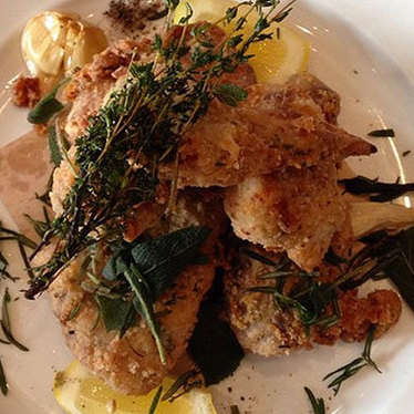 Organic fried chicken at Wayfare Tavern