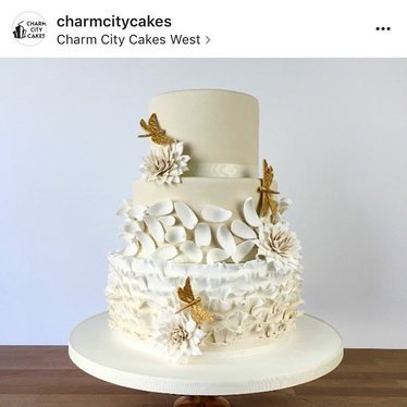 Wedding cake at Charm City Cakes