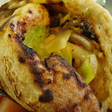 Lamb shawerma pita at Pita Bar and Grill