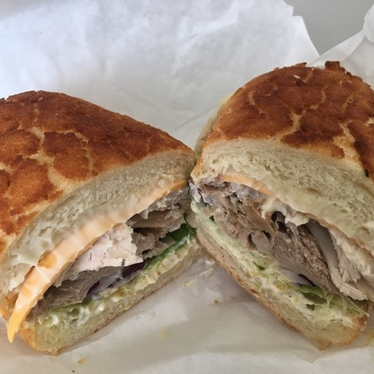 Fresh roasted turkey sandwich  at Arguello Market