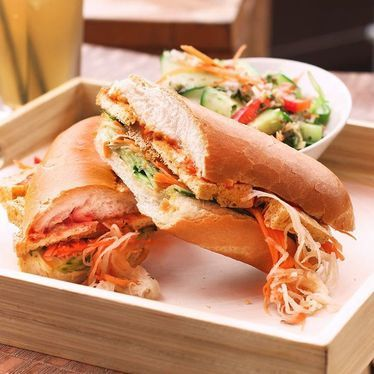 Tofu banh mi sandwich at Malai Thai Vietnamese Kitchen & Bar