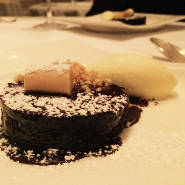Flourless Chocolate Cake at Aria Restaurant