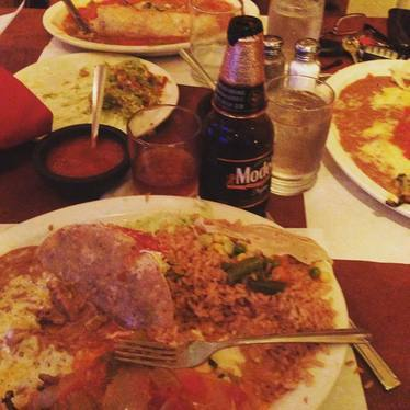 Combo plate at Paco's Tacos