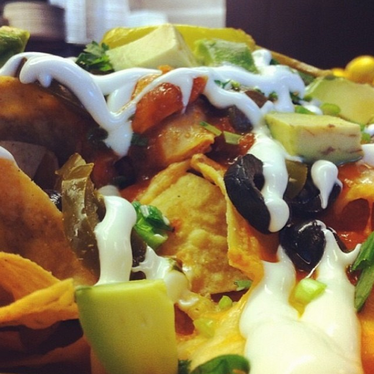 Fully loaded nachos at LOCAL Public Eatery Kitsilano