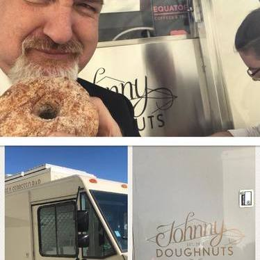 Doughnuts and coffee at Johnny Doughnuts