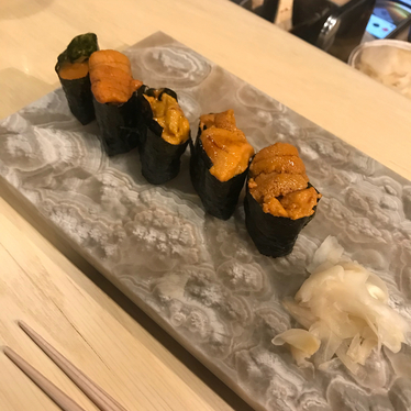 Uni nigiri at Juku