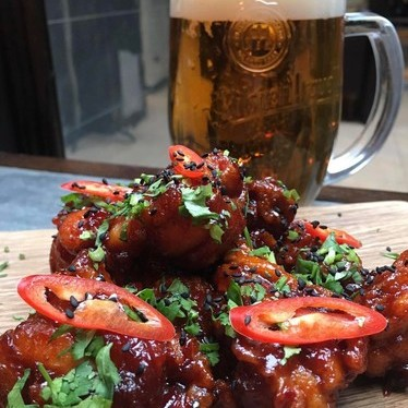 Korean fried chicken at Galvin at Windows