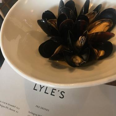 Mussels at Lyle's