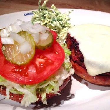 Veggie burger at Cherry Creek Grill