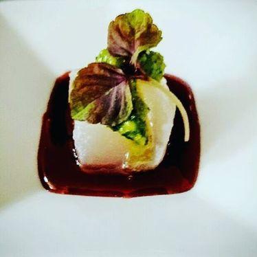 Yuzu-cured ono, Jaboticaba gastrique, watercress macadamia nut pesto at Copper Bar