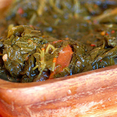 Turnip greens at Taqueria del Sol
