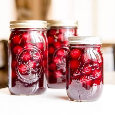 Canned cherries at Rainier Club