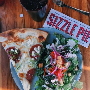 Rabbits Salad and a Slice at Sizzle Pie