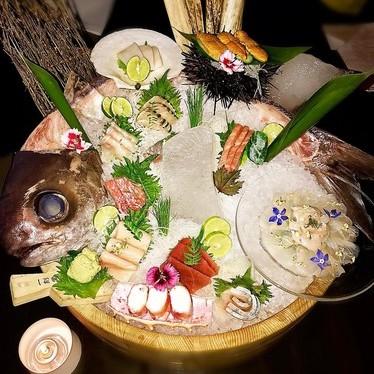 Sashimi platter at Makoto