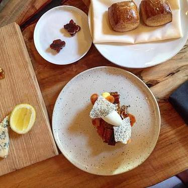 Pastries, dessert and cheeseboard at Apis Restaurant & Apiary