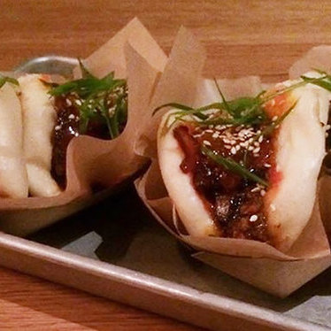 Mapo sloppy joe steamed bun at ABV