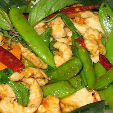 Spicy  basil chicken at Burma Superstar