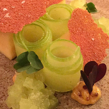 Whitestone cheddar, Granny Smith and mustard at The Musket Room