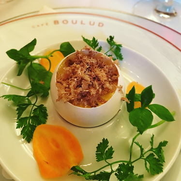 Egg in shell at Café Boulud
