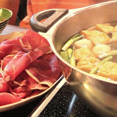 Hot pot at Gourmet Noodle Bowl