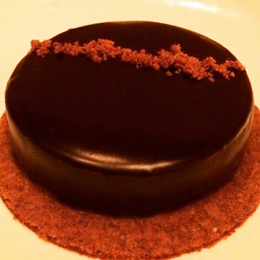 Orange and chocolate tart at Upland
