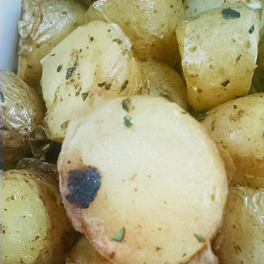 Rotisserie potatoes at b. on the Go