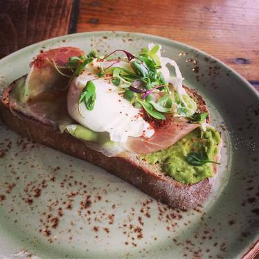 Avocado toast  at Paper Or Plastik Cafe