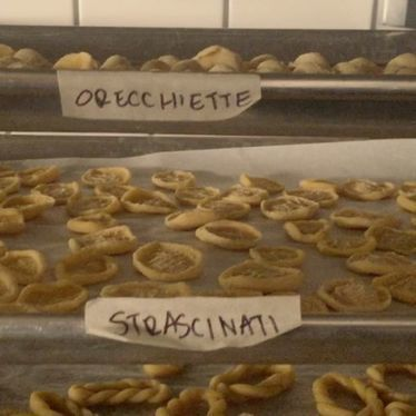 Orecchiette and Strascinati pasta at Felix