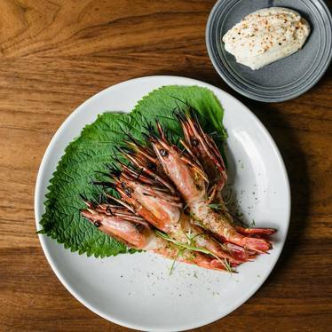 Prawns with togarashi mayo at Pidgin